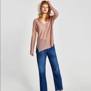NWOT Zara (Pink) Sequinned Sweater - S